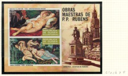 Equatorial Guinea, 1973 Airmail - Nude Paintings By Peter Paul Rubens, 1577-1640 - Minisheet, Block - MNH - AN-02 - Equatorial Guinea