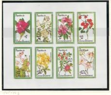 Equatorial Guinea, 1978 Flowers, Imperf - Souvenir Sheet, Minisheet, Block - MNH - AN-32 - Equatorial Guinea