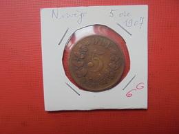 NORVEGE 5 ÖRE 1907 (A.4) - Norvège