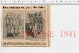 Presse 1951 Radeau Avec Outres De Peaux De Chiens Chèvres Boeufs Chine Fleuve Jaune Navigation Fluviale 223XZ - Old Paper