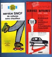 2 DOCUMENTS S N C F DE VOITURES SANS CHAUFFEUR DONT 1 AVEC RENAULT 4 L - Old Paper