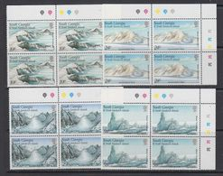 South Georgia 1989 Glacier Formations 4v Bl Of 4 (corners)  ** Mnh (41715) - Zuid-Georgia