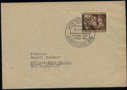 Propaganda : DR 54 Pfg Adolf Hitler Auf Briefumschlag: Gebraucht Mit Sonderstempel Wien Messepalast Ausstellung - Mülh - Deutschland