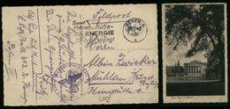 WW II DR Feldpost Polen Militär Postkarte AK Posen : Gebraucht Mit Eisernes Kreuz Werbestempel Energie Posen - Mühlau - Deutschland