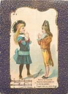 CHROMO A LA BELLE JARDINIERE C.BERIOT A LILLE SERIE MUSIQUE BABY POLKA - Altri