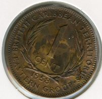 Caraïbes Orientales East Caribbean 1 Cent 1958 KM 2 - Caraïbes Orientales (Etats Des)