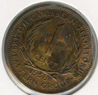 Caraïbes Orientales East Caribbean 1 Cent 1958 KM 2 - East Caribbean States