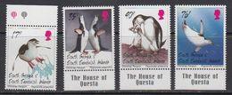 South Georgia 1996 Chinstrap Penguins 4v  ** Mnh (41715E) - Zuid-Georgia
