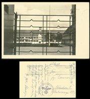WW II Postkarte: Foto Lechfeld ,Kaserne Mit Reichskriegsfahne. Gebraucht Feldpost - München 1941, Bedarfserhaltung. - Deutschland