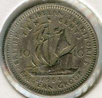 Caraïbes Orientales East Caribbean 10 Cents 1964 KM 5 - Caraibi Orientali (Stati Dei)