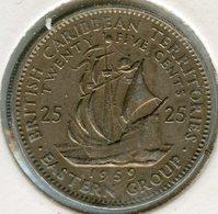 Caraïbes Orientales East Caribbean 25 Cents 1959 KM 6 - Caraïbes Orientales (Etats Des)