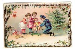 Enfants  Jouets Cheval De Bois  Polichinelle  Noël  Superbe Chromo Carton  10x14cm - Chromos