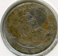 Caraïbes Orientales East Caribbean 10 Cents 1999 KM 13 - Caraïbes Orientales (Etats Des)