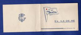 COMPAGNIE TRANSATLANTIQUE PAQUEBOT ILE DE RE  CARTE DE VOEUX 1947 - Cartes