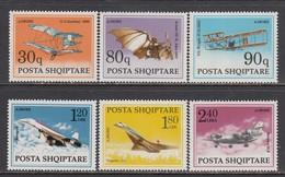 Albania 1991 - Avions, Mi-Nr. 2480/85, MNH** - Albanie