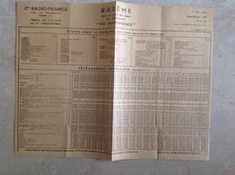 Barème Des Taxes Télégramme Via Radio France 1947 - Vieux Papiers