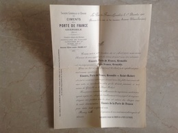 Grenoble Ou Saint Robert Ciments De La Porte De France 1900 - France