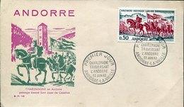 41862 Andorra,  Fdc  1964   Charlemagne, Karl Der Grosse, Carolus Magnus, Roman Emperor - Famous People