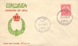 LIBYE LIBYA 185 FDC 1er Jour Royaume Armoirie Wappen Coat Of Arms Tripoli 1960 - Libye