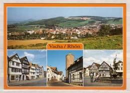 Vacha / Rhön , Mehrbildkarte , Übersicht - Markt - Widermarkter Straße Mit Storchenturm - Vitusbrunnen Am Markt - Vacha