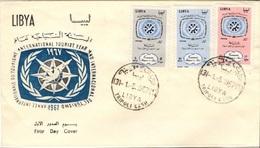 LIBYE LIBYA 301 à 303 FDC 1er Jour International Tourist Year Tourisme 1967 - Libye