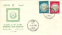 LIBYE LIBYA 348 à 349 FDC 1er Jour International Labour Organisation Travail Arbeit 1969 - Libye