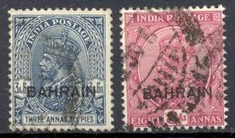 Bahrein - 1938/1941 - Yt 24 + 26 - Timbres Inde Anglaise Surchargés - Oblitérés - Bahrain (...-1965)