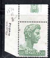 XP3915 - REPUBBLICA SAN GIORGIO , Il 500 Lire Dent 13 1/4 ***  Gomma Arabica Fluorescente - 6. 1946-.. Repubblica
