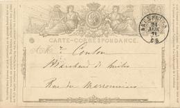 351/28 -- Entier Postal No 1 Double Cercle BRUXELLES 1871 En Ville - Belle Fraicheur - Ganzsachen