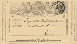 352/28 -- Entier Postal No 1 Double Cercle GAND 1871 En Ville - Cachet Polynard Van Loo , Négociant - Ganzsachen