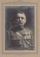 Grande Photo Sur Carton Un Militaire Médaille Décoration - Guerre, Militaire