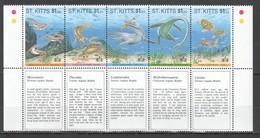 XX358 ST.KITTS WATER PREHISTORIC ANIMALS DINOSAURS #367-1 MICHEL 12 EURO SET MNH - Postzegels