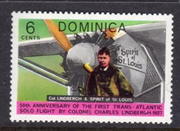 DOMINICA - 1978 AVIATION ANNIVERSARY LINDBERGH 6c STAMP FINE MNH ** SG604 - Dominica (...-1978)