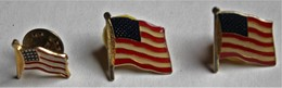 Lot De 3 Pins Drapeau Des USA Etats Unis - Pin's