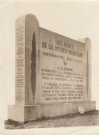 1925 Grande Photo Monument Guerre Morts De La Division Marocaine Maroc Vimy Par Despagne à Arras - Guerre, Militaire