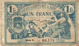 822-2019     REGION ECONOMIQUE DE BONE DU 18 MAI 1915  1 FRANC - Chambre De Commerce