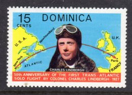 DOMINICA - 1978 AVIATION ANNIVERSARY LINDBERGH 15c STAMP FINE MNH ** SG606 - Dominica (...-1978)