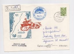 NORTH POLE 28 Drift Station Base Polar ARCTIC Mail Cover USSR RUSSIA Ship Shmidt - Forschungsstationen & Arctic Driftstationen