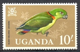 Ouganda - 1965 - Yt 76 - Perroquet - * Charnière - Ouganda (1962-...)