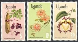 Ouganda - 1969 - Yt 94 - > 96 - Fleurs - * Charnières - Ouganda (1962-...)