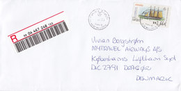 Spain PREMIAIR Registered Certificado Label Palma MALLORCA 2003 Cover Letra Denmark ATM / Frama Label Schiff Ship Bateau - Poststempel - Freistempel