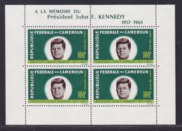 CAMEROUN BLOC N°    3 ** MNH Neuf Sans Charnière, TB (CLR435) Anniversaire De La Mort Du Président John F. Kennedy -1964 - Cameroun (1960-...)
