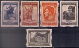 Russia 1951, Michel Nr 1608-12, MLH OG - Ungebraucht