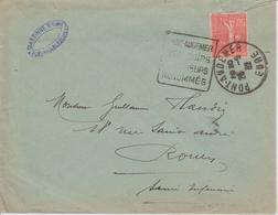 France Oblitération Daguin Eure Pont Audemer 1932 - Marcophilie (Lettres)
