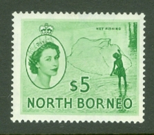 North Borneo: 1954/59   QE II - Pictorial    SG385  $5     MH - North Borneo (...-1963)