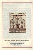 Santa Caterina Maria Sopra Minerva Roma Antica Immagine Pergamenata Su Biglietto Augurale  Perfetto Firmato - Godsdienst & Esoterisme