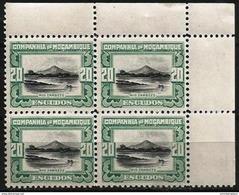 Mozambique Company  - 1925 Zambezi River 20e Corner Block Of 4 MNH **    Sc 161 - Mozambique