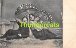 CPA ILLUSTRATEUR E. ERNST SOUS LE CHAMPIGNON MONTAGE SURREALISME ARTIST SIGNED MUSHROOM - Altre Illustrazioni