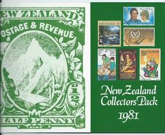 1981 Full Year Pack One Minisheet In This Pack.  All Mnh - New Zealand