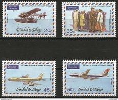 Trinidad & Tobago  - 1977 Airmail Service Set Of 4 MNH **   Sc 268-71 - Trinidad & Tobago (1962-...)